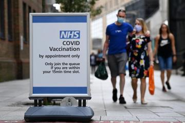 Britain's COVID-19 cases down by 33% over past week