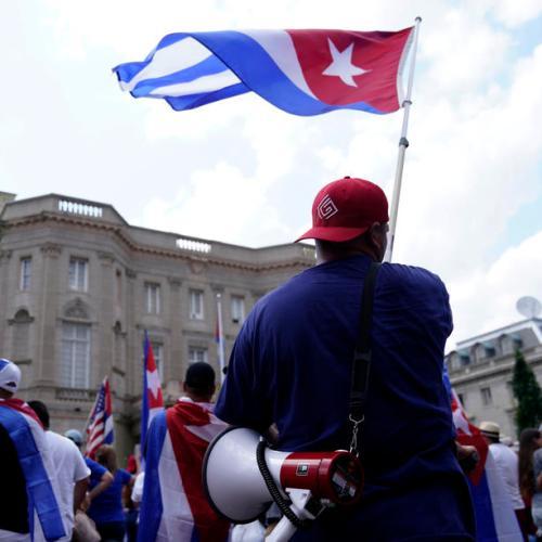 Pro-democracy Cuban-American protesters pressure Biden to do more for Cuba