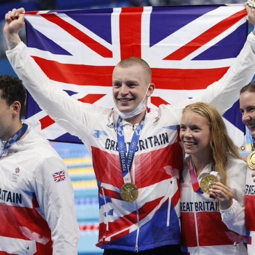 Peaty leads Britain to mixed relay Olympic Swimming gold in record time