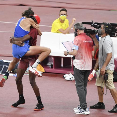 Barshim and Tamberi agree to share high jump gold
