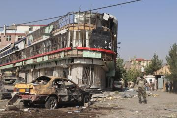 Blast in Afghan capital as Taliban battle government forces in south, west