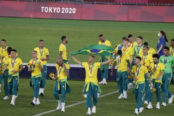 Brazil retain their Olympic football title
