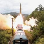 North Korea says it tested new railway-borne missile system to strike 'threatening forces'