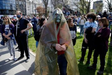 Serbian protesters demand more action to stop industrial pollution