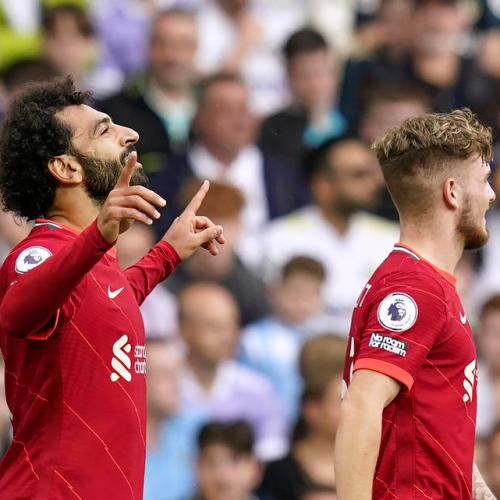 Salah joins 100 club as Liverpool win at Leeds in match marred by Elliott injury