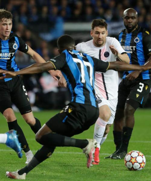 Messi, Neymar, Mbappe don't score in Brugge draw; Liverpool, City win