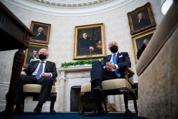 Biden, Johnson talk trade and trains in White House meeting