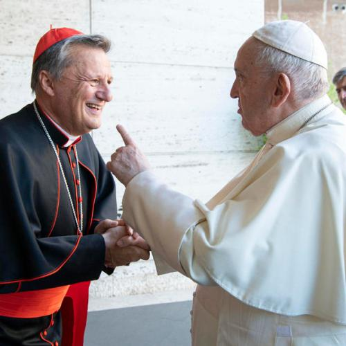 Photo Story: Pope Francis greets Maltese Cardinal Mario Grech ahead of the Synod inauguration on Sunday