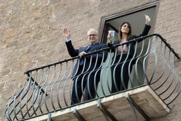 Photo Story: Handover of the mayoral office in Rome
