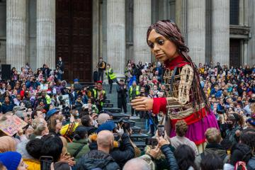 Photo Story: Little Amal visits St Paul's Cathedral in London