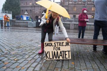 Photo Story – Swedish climate activist Greta Thunberg protests at the Swedish Parliament