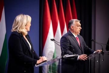 French far-right leader Le Pen, Hungarian PM Orban slam EU in Budapest