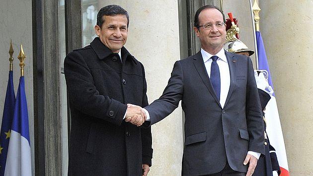 Ollanta Humala y François Hollande se encontrarán en Francia. (Difusión)