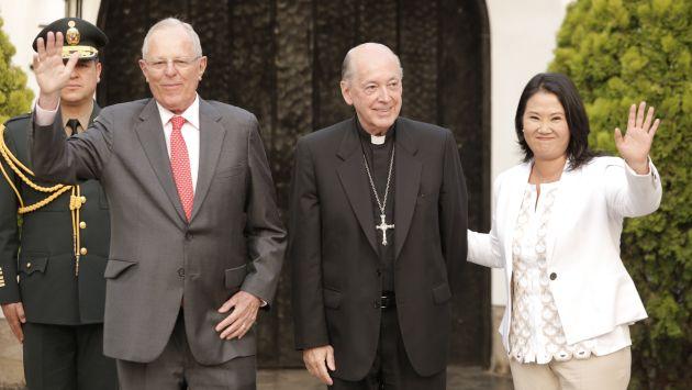 Seis meses han pasado desde el encuentro entre Keiko Fujimori y PPK propiciado por monseñor Cipriani. (Piko Tamashiro)