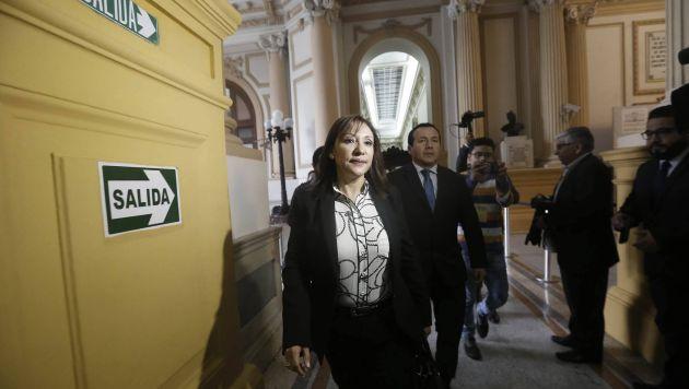 Julia Príncipe ya se encuentra en el parlamento (Geraldo Caso/Perú21)