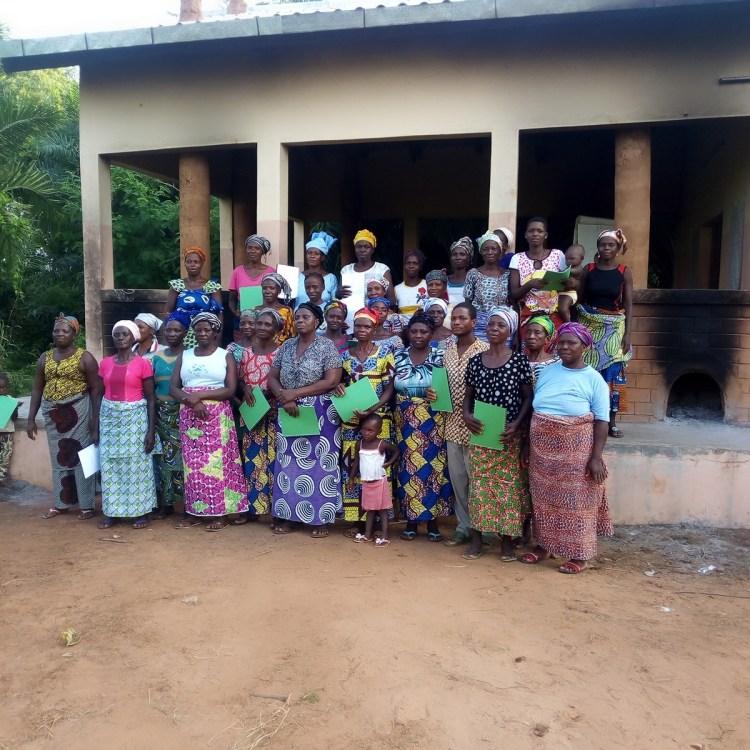 Groupements de femmes Mignon Miagnon et Ayagou transformatrices de noix de palme en huile rouge