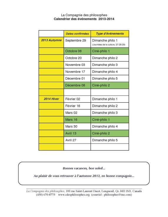 Calendrier 2013-14