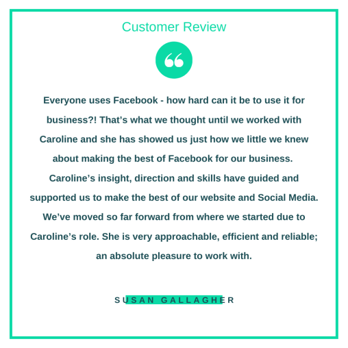 Customer review from Susan Gallagher.