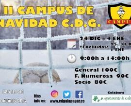 Cartel II Campus de Navidad CDG