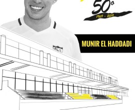 Cartel homenaje Munir El Haddadi