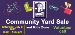MCRC Yard Sale