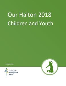 Our Halton 2018 - Children and Youth Cover Page