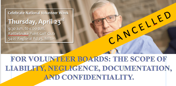 For Volunteer Boards: The Scope of Liability, Negligence, Documentation, & Confidentiality with Robert Solomon LL.B.