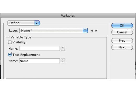 Select Name from the Layer dropdown