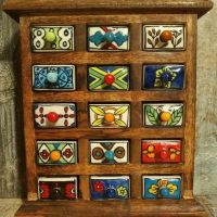 Ceramic Spice and Jewellery Chests