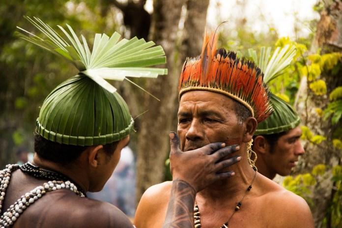 povo xukuru durante ritual