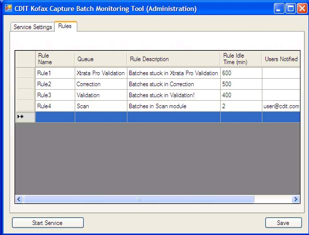 CDIT Batch Monitor Extension for Kofax Capture Tool