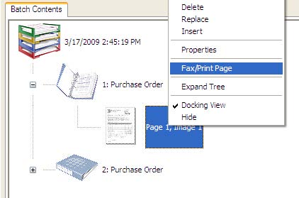 CDIT Print & Fax Extension in the Kofax Capture Quality Control Module