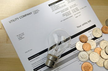 Utility Bill Light Bulb & Money