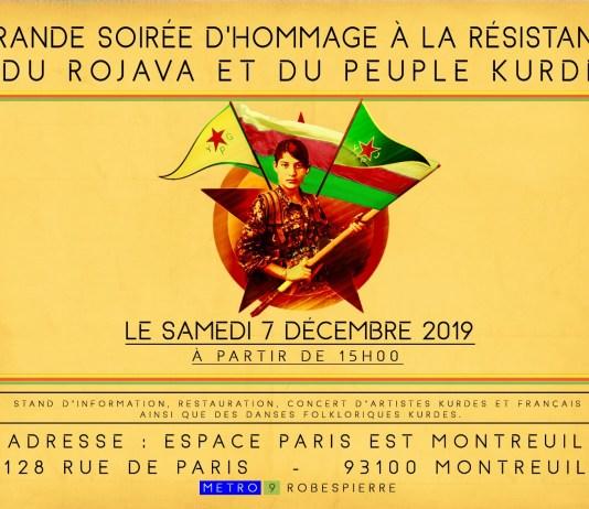 Grande soirée de solidarité avec le Rojava et le peuple kurde