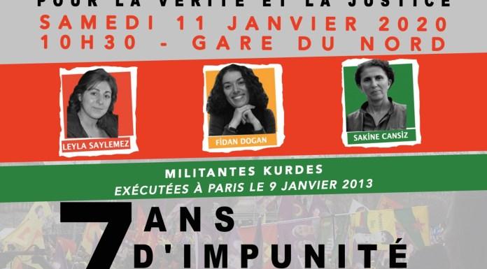 USTICE POUR SAKINE, ROJBÎN ET LEYLA, MILITANTES KURDES ASSASSINÉES À PARIS EN 2013