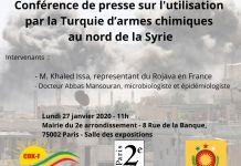Conférence de presse sur l'utilisation par la Turquie d'armes chimiques au nord de la Syrie