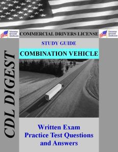 CDL Study Guide Combination Vehicles