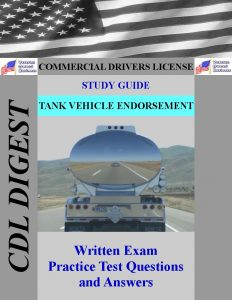 CDL Study Guide Tank Vehicle Endorsement