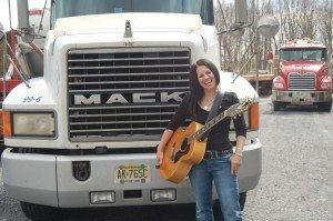 Lady Trucker Plays Music