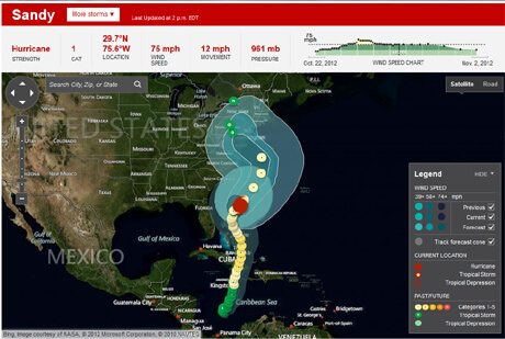 Continuous Updates on Hurricane Sandy