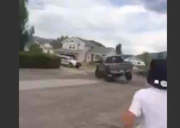 Video: Utah Man Uses Pickup to End Police Chase