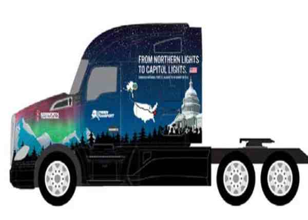 Kenworth T680 To Transport Capitol Christmas Tree
