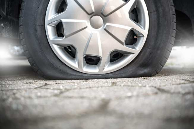 Résultat d'image pour les SOLUTIONS quand les pneus de chemise, courent le pneu plat