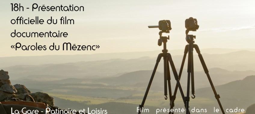 """Présentation du film """"Paroles du Mézenc"""" le 28 septembre à 18h à la Gare de Lantriac"""