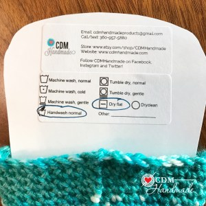free printable care instructions label