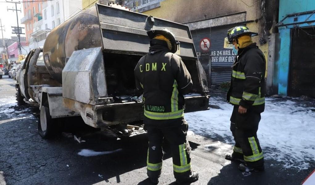 Incendio de pipa de gas en alcaldia Venustiano Carranza