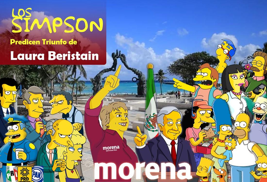 SIMPSON PREDICEN TRIUNFO DE LAURA BERISTAIN qroo solidaridad