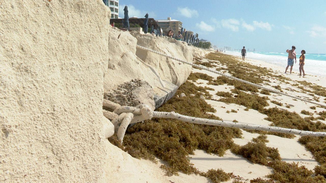 erocion de playas en cancun
