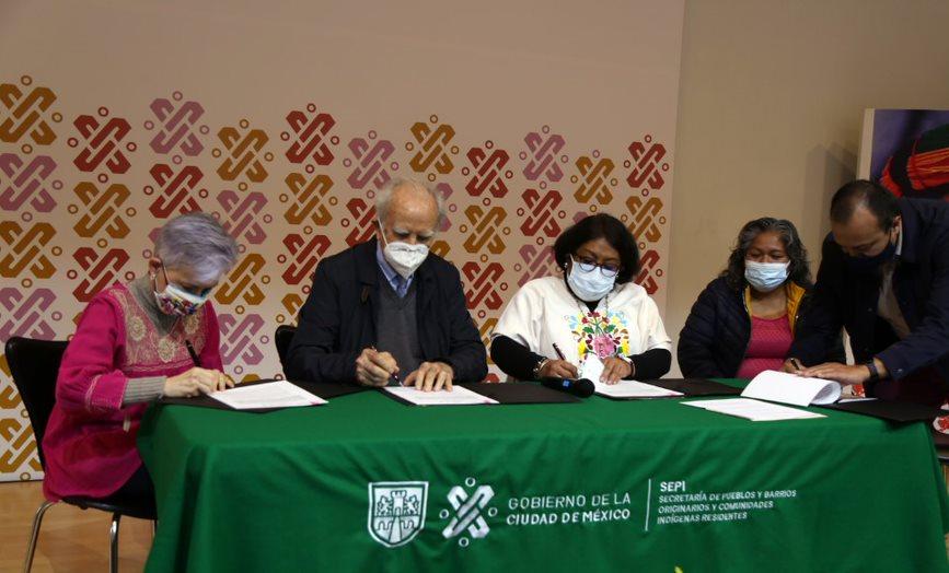 Firman Conafe y CDMX convenio de colaboracion para brindar educacion comunitaria a la poblacion indigena de la capital