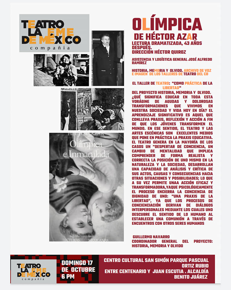 Historia memoria y olvido reune a exalumnos del Colegio de Bachilleres para rendir el primer homenaje a Hector Azar en la Ciudad de Mexico 4